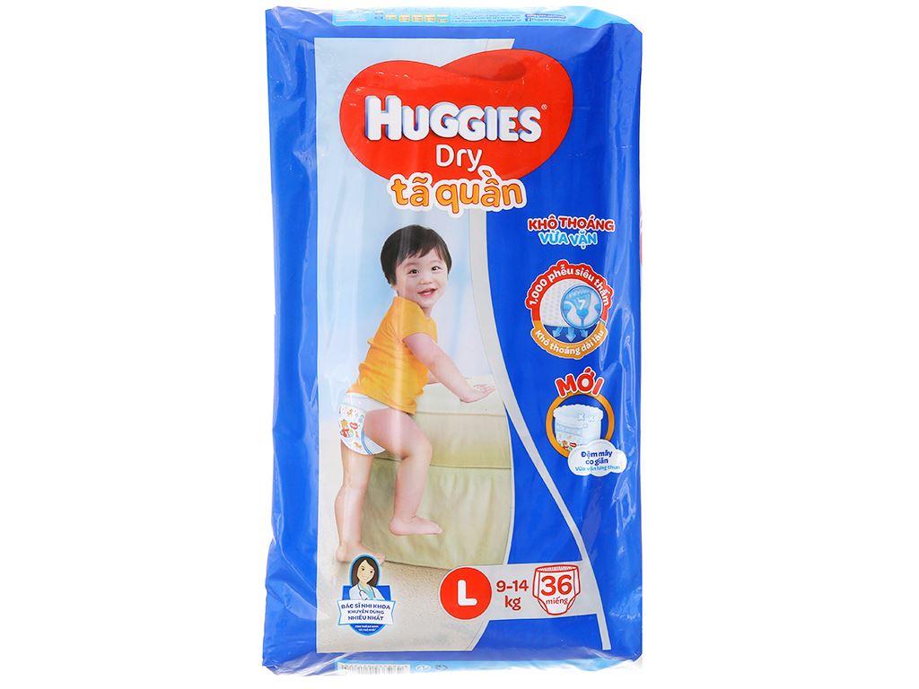 Tã quần Huggies Dry Size L 36 miếng (cho bé 9 - 14kg) 1