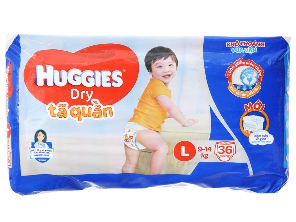 Tã quần Huggies Dry Size L 36 miếng (cho bé 9 - 14kg) 2