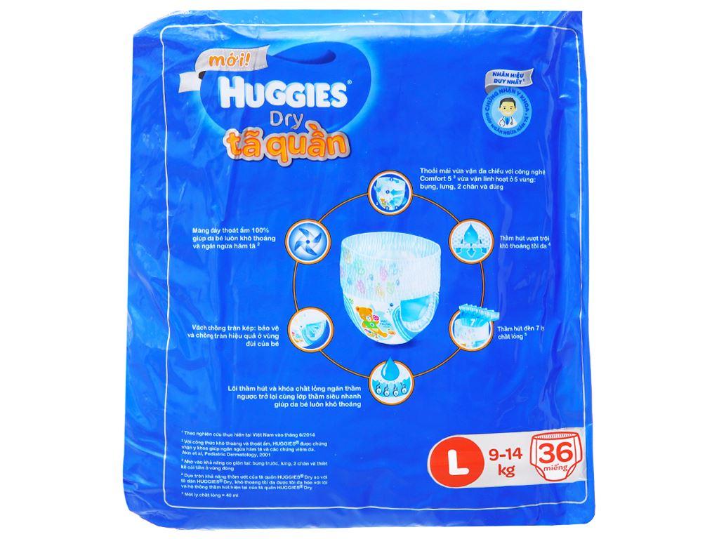 Tã quần Huggies Dry size L 36 miếng (cho bé 9 - 14kg) 3