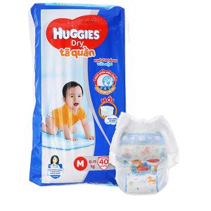 Tã quần Huggies Dry size M 40 miếng (cho bé 6 - 11kg)