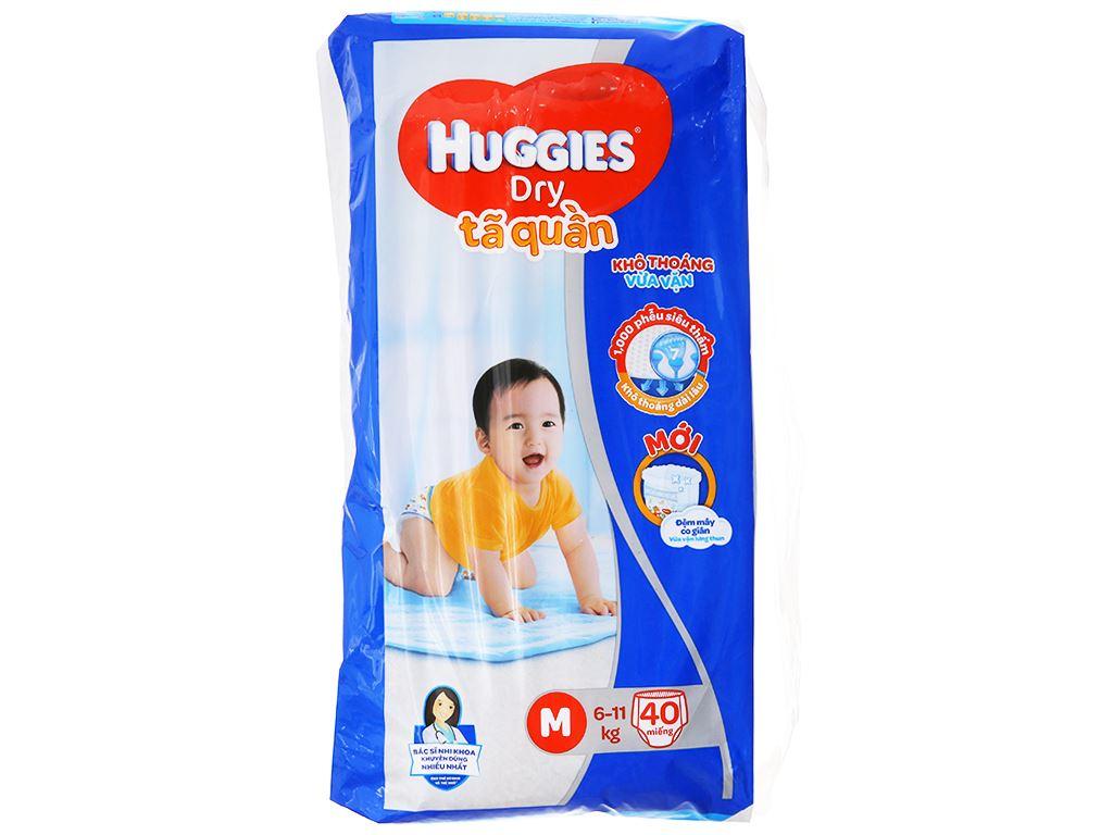 Tã quần Huggies Dry size M 40 miếng (cho bé 6 - 11kg) 1