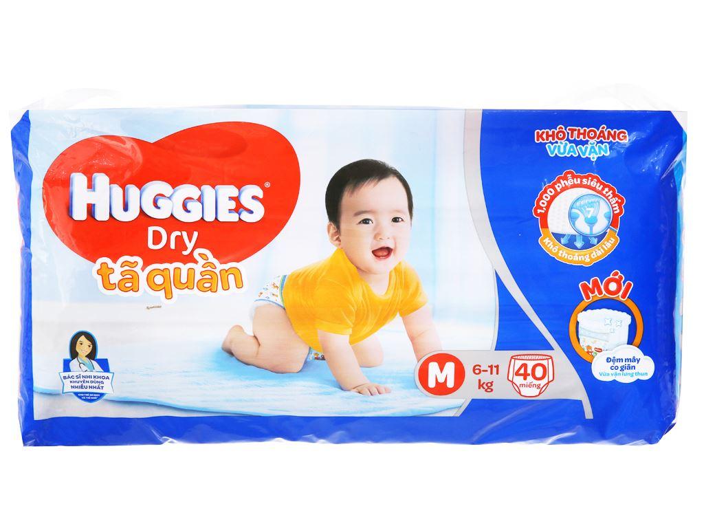Tã quần Huggies Dry size M 40 miếng (cho bé 6 - 11kg) 2