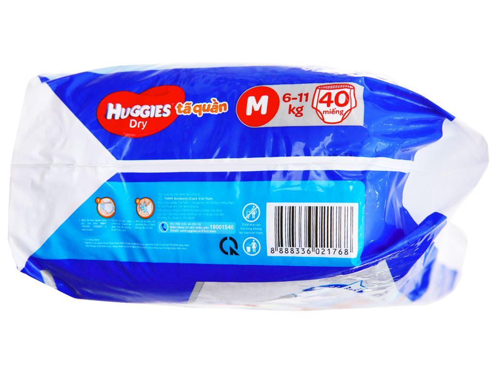 Tã quần Huggies Dry size M 40 miếng (cho bé 6 - 11kg) 3
