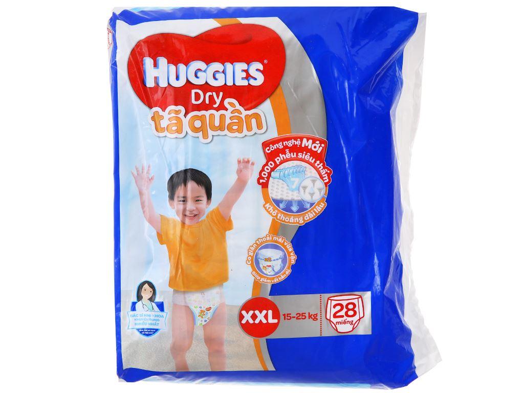 Tã quần Huggies Dry size XXL 28 miếng (cho bé 15 - 25kg) 1