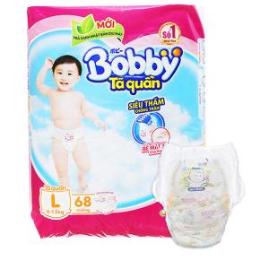 Tã quần Bobby size L 68 miếng (cho bé 9 - 13kg)