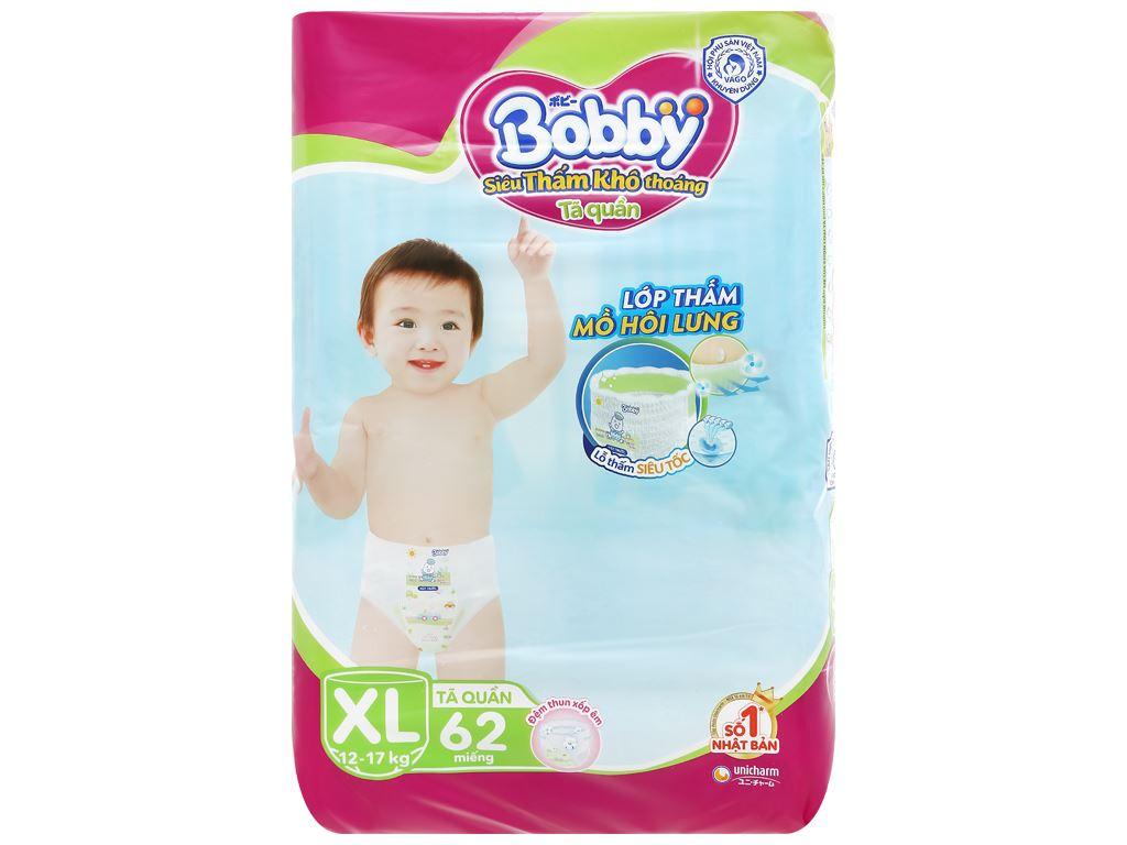 Tã quần Bobby size XL 62 miếng (cho bé 12 - 17kg) 1