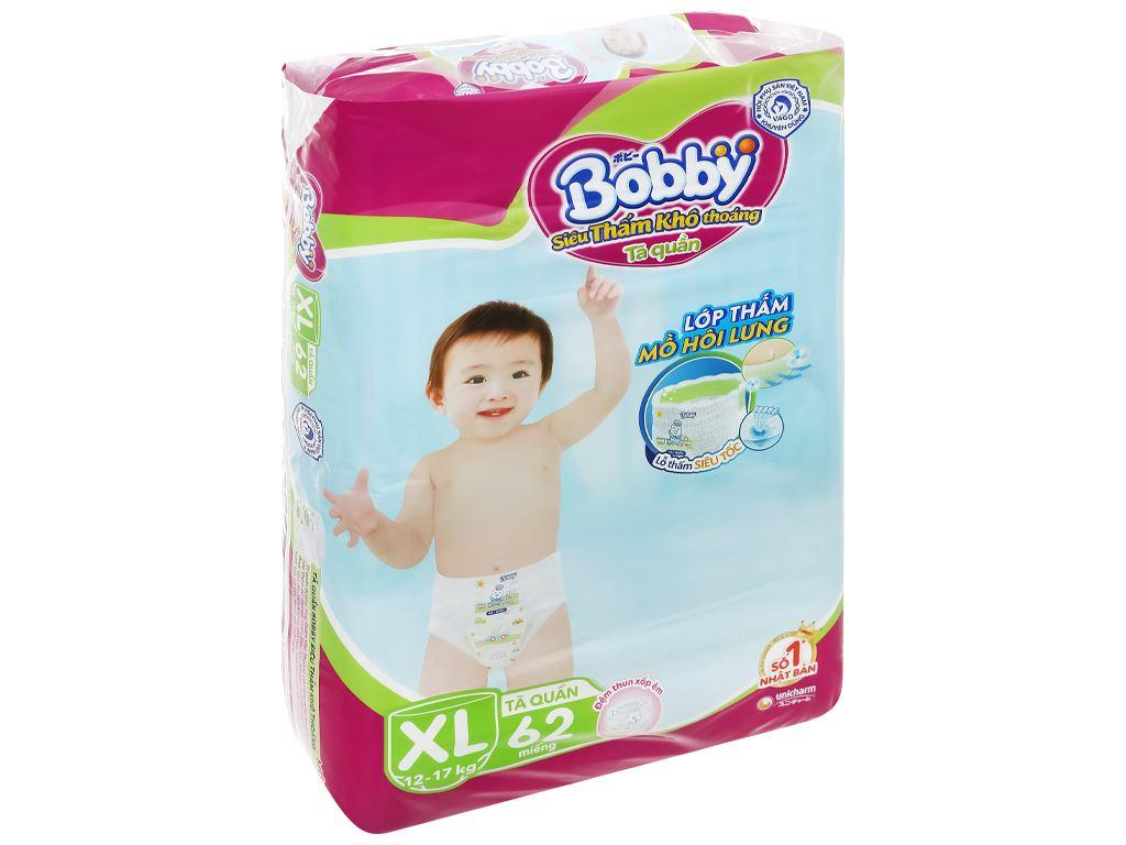 Tã quần Bobby size XL 62 miếng (cho bé 12 - 17kg) 3