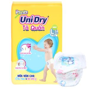 Tã quần Unidry size L 38 miếng (cho bé 9 - 14kg)