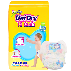 Tã quần Unidry Size L 9 - 14kg (38 miếng)