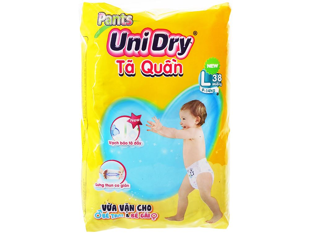 Tã quần Unidry size L 38 miếng (cho bé 9 - 14kg) 1