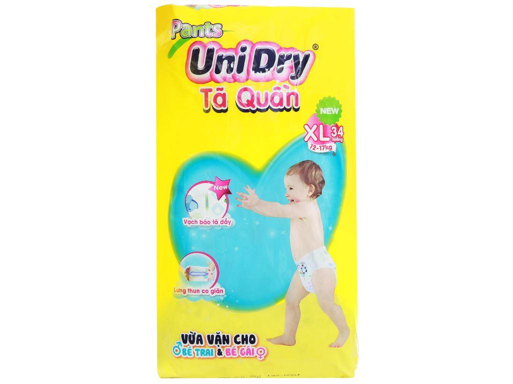Tã quần Unidry size XL 34 miếng (cho bé 12 - 17kg) 1