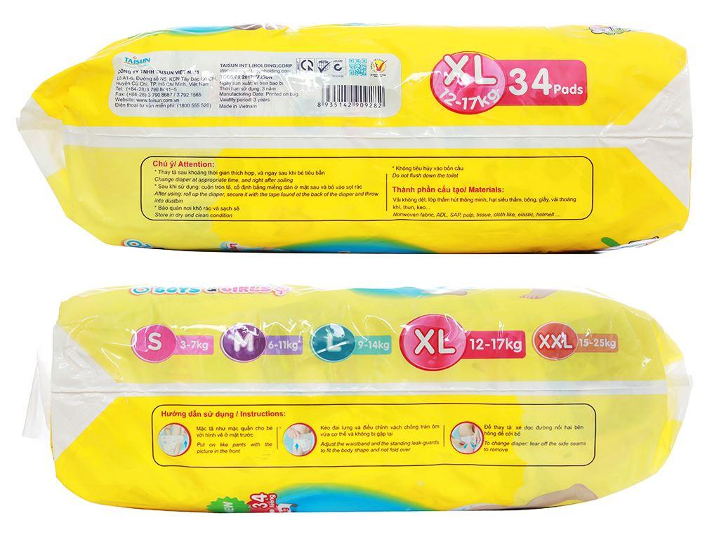 Tã quần Unidry size XL 34 miếng (cho bé 12 - 17kg) 3