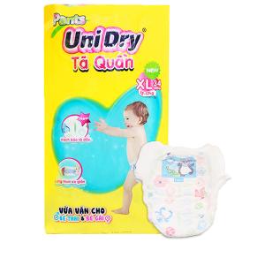 Tã quần Unidry size XL 34 miếng (cho bé 12 - 17kg)