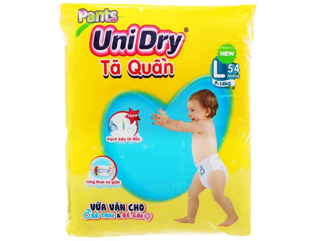 Tã quần Unidry Size L 54 miếng (cho bé 9 - 14kg) 1