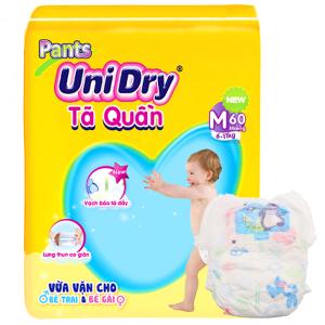 Tã quần Unidry Size M 6 - 11kg (60 miếng)