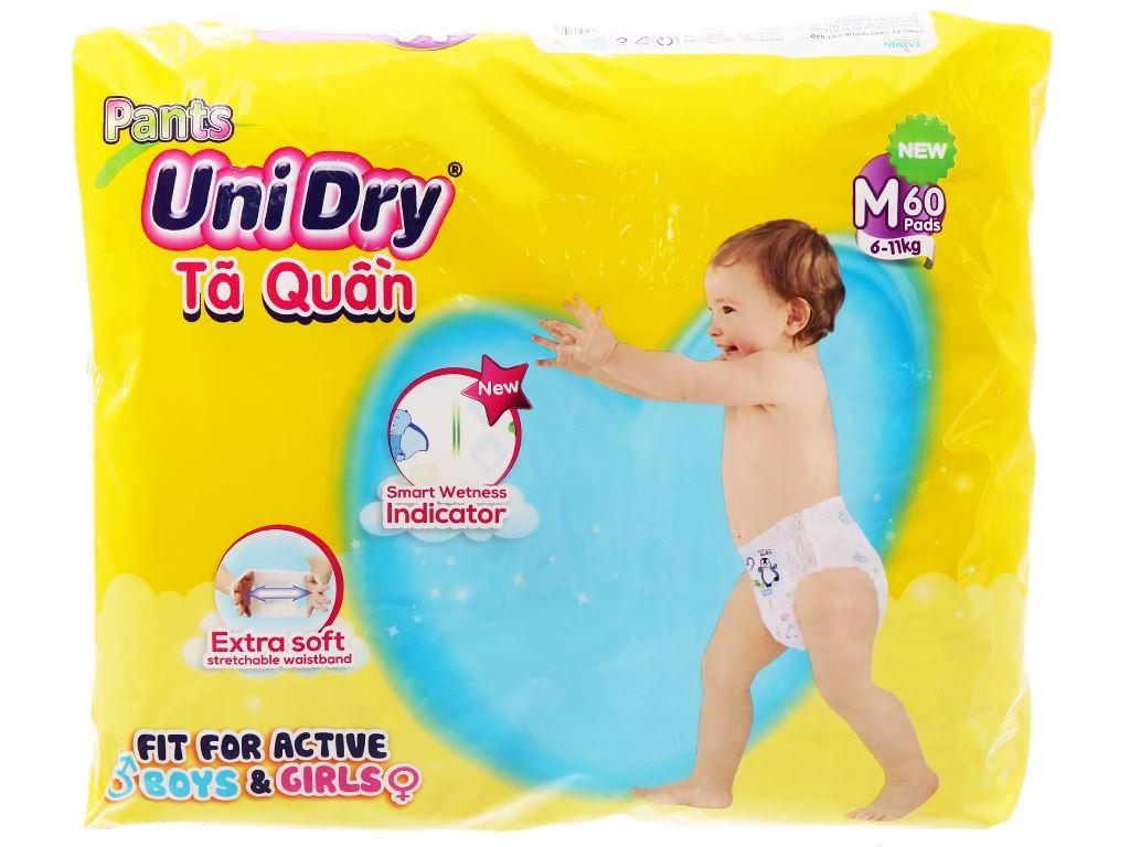Tã quần Unidry size M 60 miếng (cho bé 6 - 11kg) 2