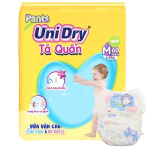 Tã quần Unidry size M 60 miếng (cho bé 6 - 11kg)