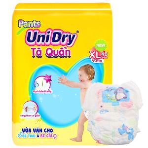 Tã quần Unidry Size XL 12 - 17kg (48 miếng)