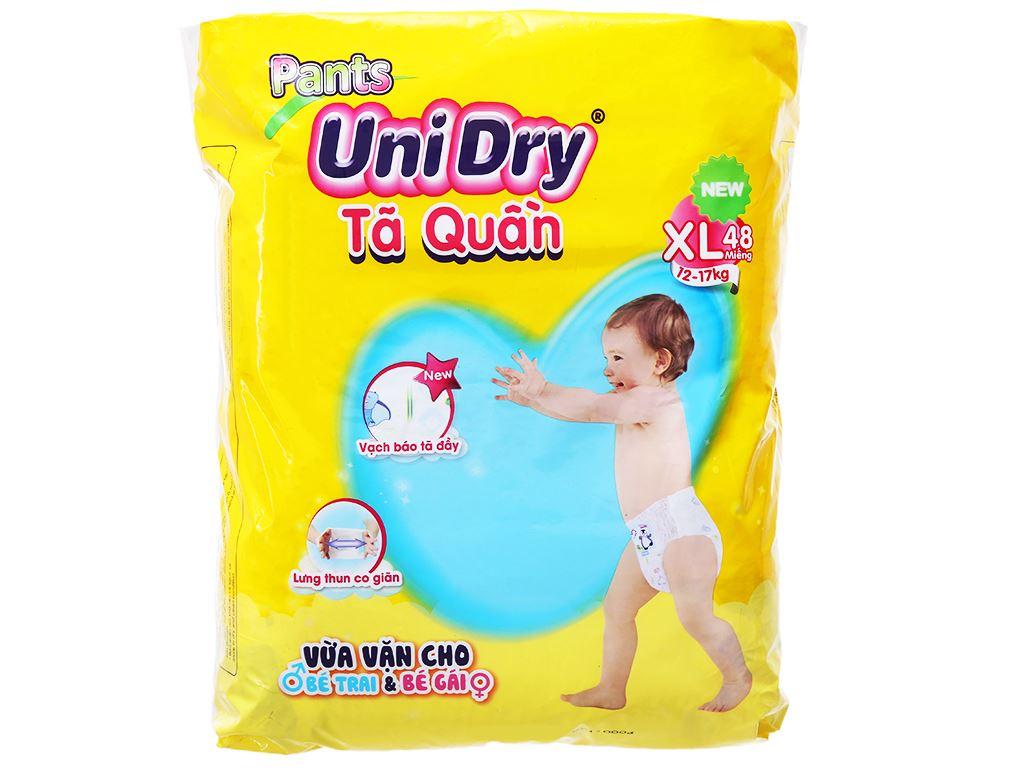 Tã quần Unidry size XL 48 miếng (cho bé 12 - 17kg) 1