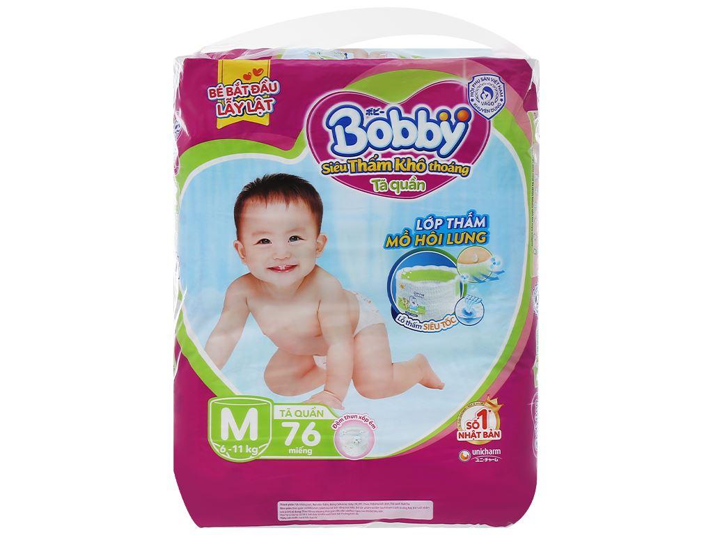 Tã quần Bobby size M 76 miếng (cho bé 6 - 11kg) 1
