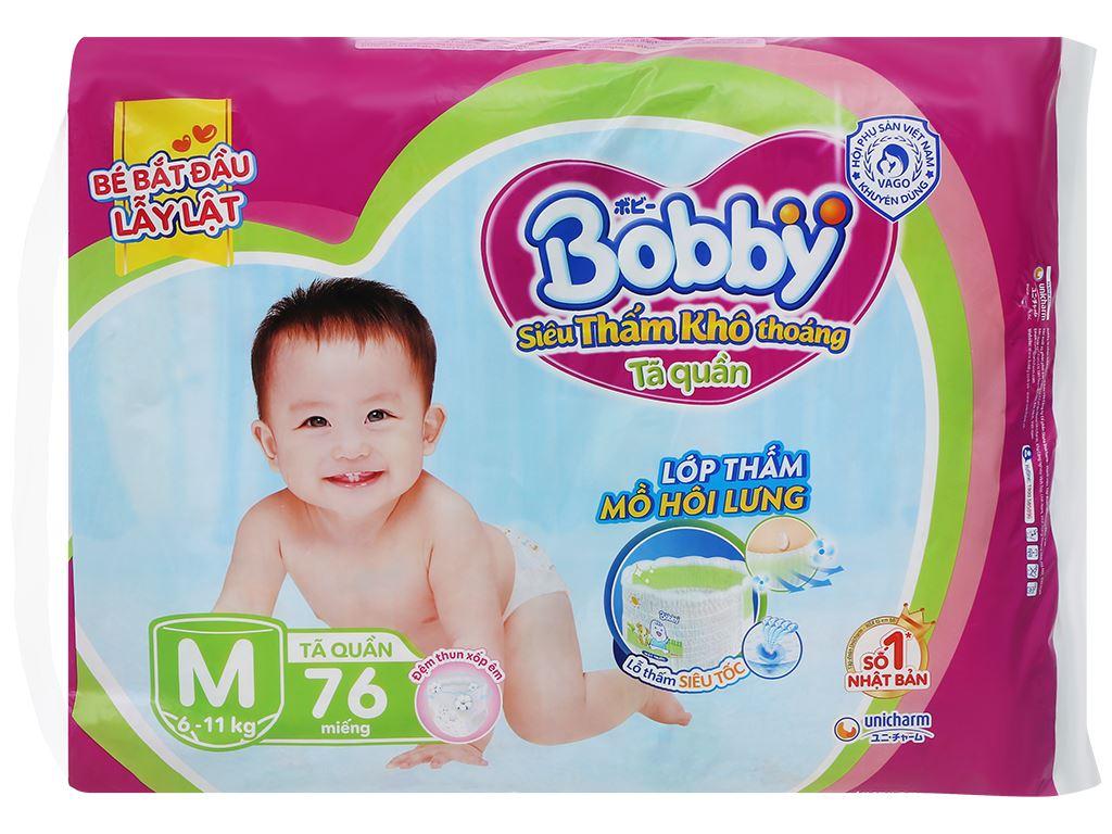 Tã quần Bobby size M 76 miếng (cho bé 6 - 11kg) 2
