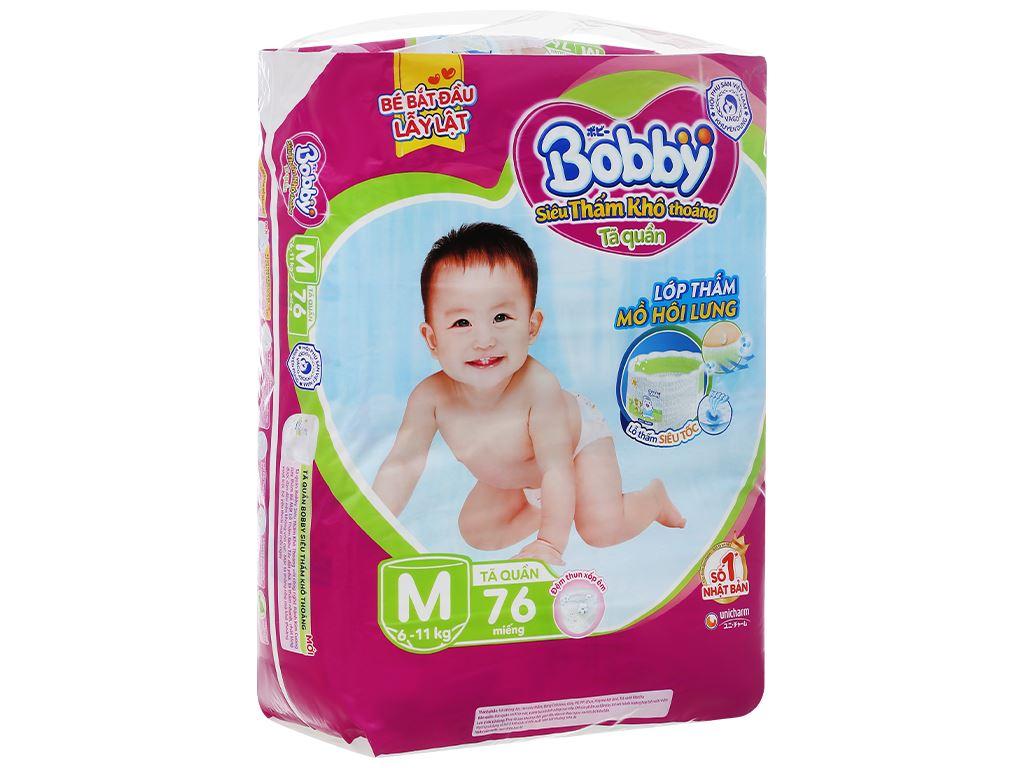 Tã quần Bobby size M 76 miếng (cho bé 6 - 11kg) 3