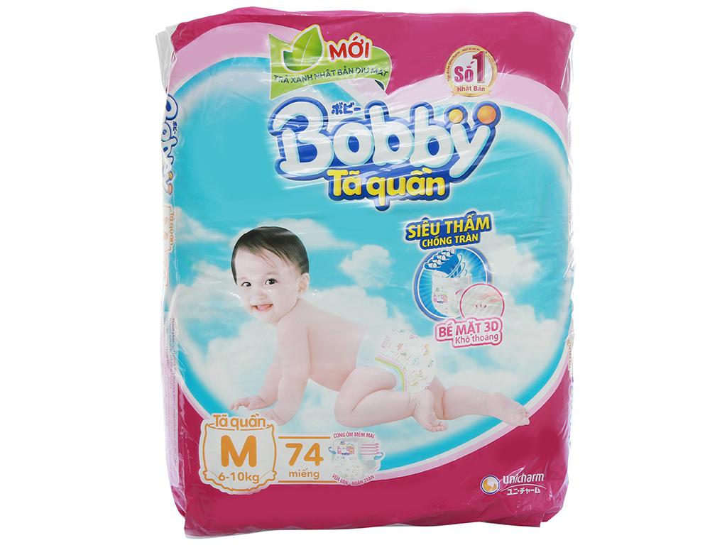 Tã quần Bobby size M 74 miếng (cho bé 6 - 10kg) 2