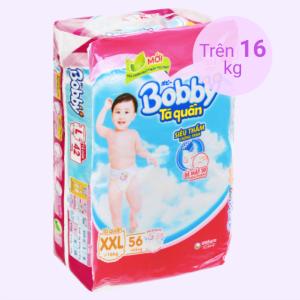 Tã quần Bobby size XXL 56 miếng (cho bé trên 16kg)
