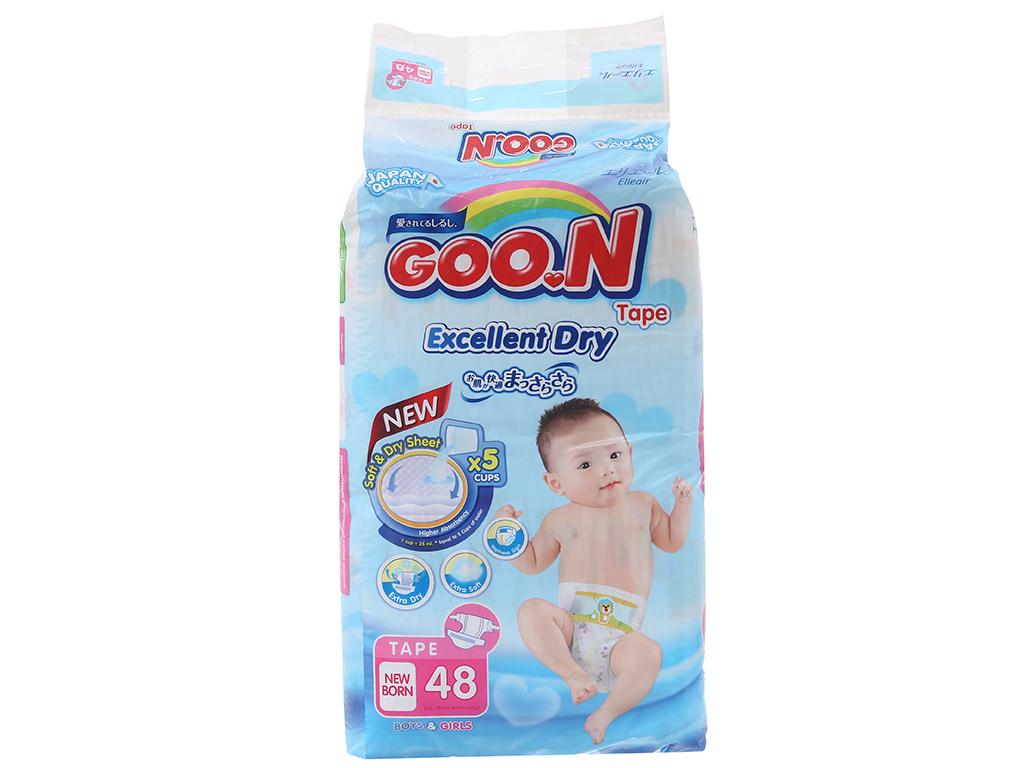 Tã dán Goon Excellent Soft 48 miếng (cho bé dưới 5kg) 2