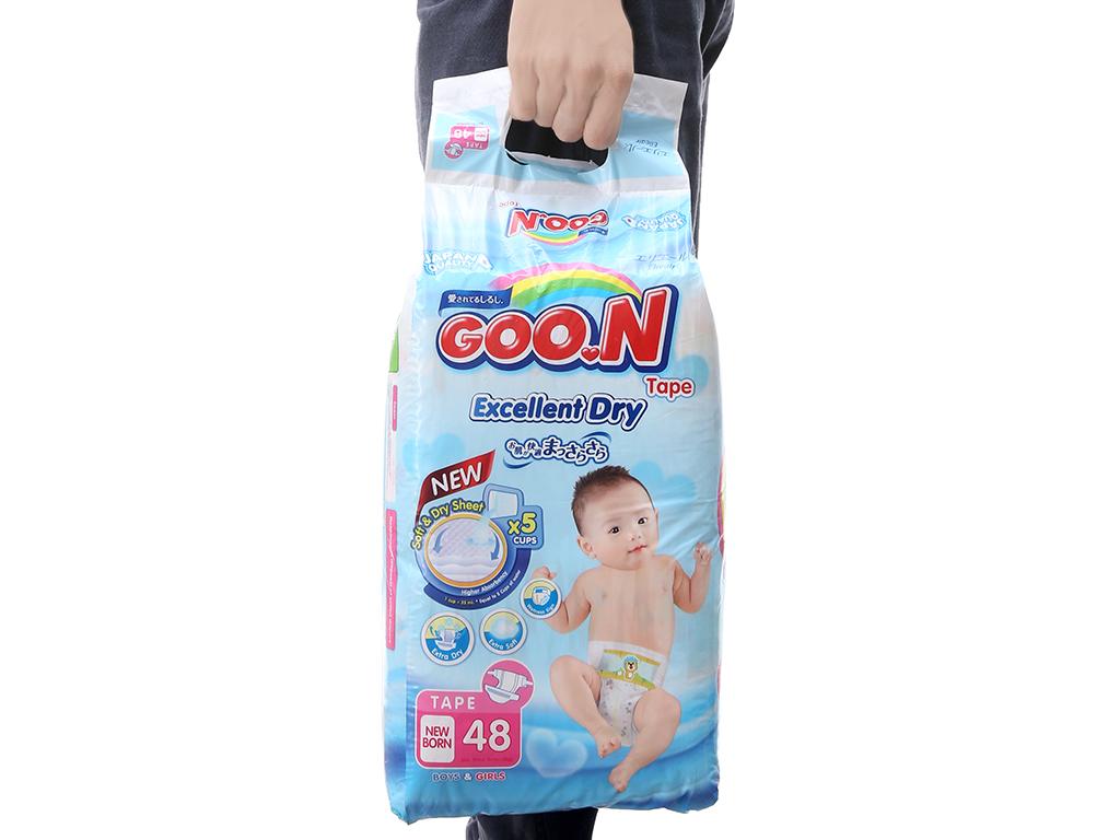 Tã dán Goon Excellent Soft 48 miếng (cho bé dưới 5kg) 3