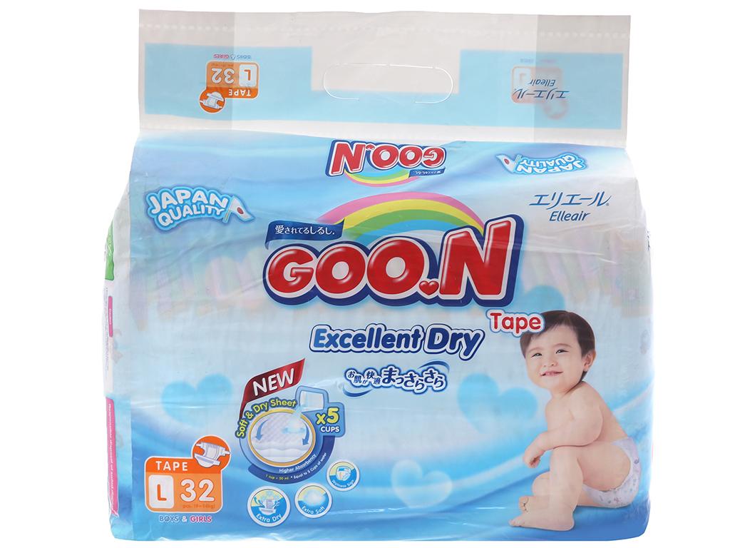 Tã dán Goon Excellent Soft 32 miếng (cho bé 9 - 14kg) 2