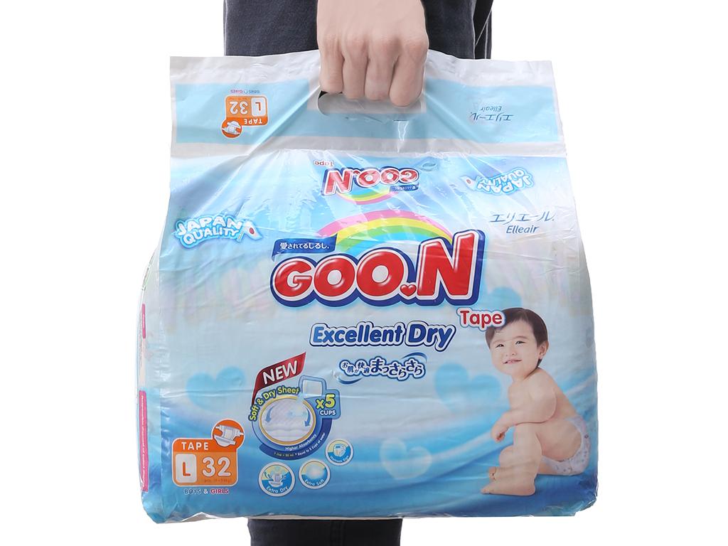 Tã dán Goon Excellent Soft 32 miếng (cho bé 9 - 14kg) 3