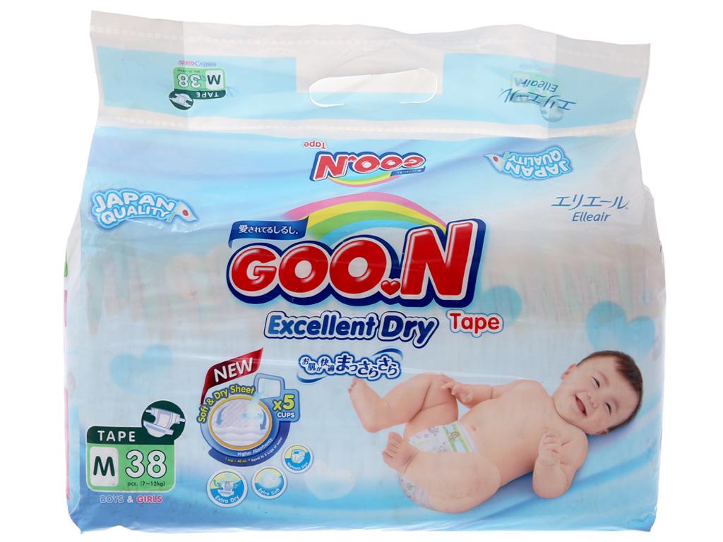 Tã dán Goon Excellent Soft 38 miếng (cho bé 7 - 12kg) 2