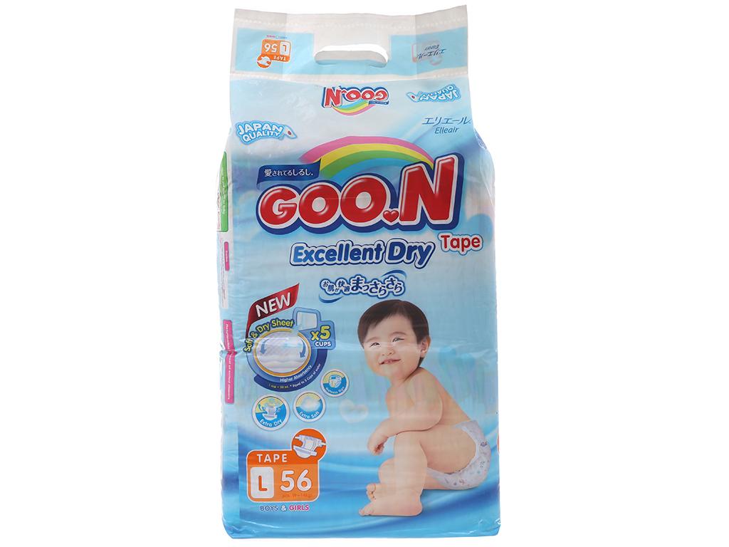 Tã dán Goon Excellent Soft 56 miếng (cho bé 9 - 14kg) 2
