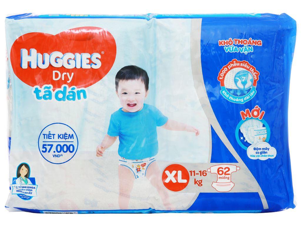 Tã dán Huggies Dry size XL 62 miếng (cho bé 11 - 16kg) 2