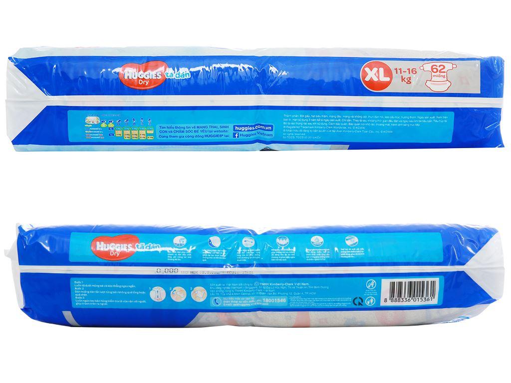 Tã dán Huggies Dry size XL 62 miếng (cho bé 11 - 16kg) 3