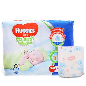 Miếng lót sơ sinh Huggies Dry size NB1 56 miếng (cho bé dưới 5kg)
