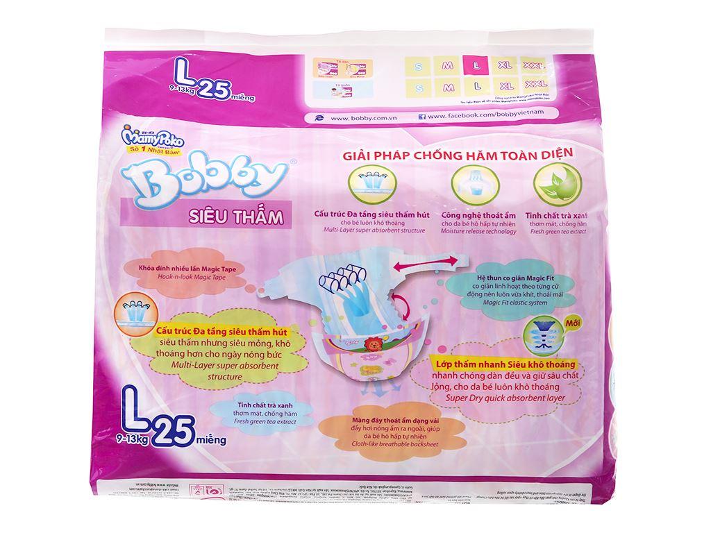 Tã dán Bobby Size L 25 miếng (cho bé 9 - 13kg) 2