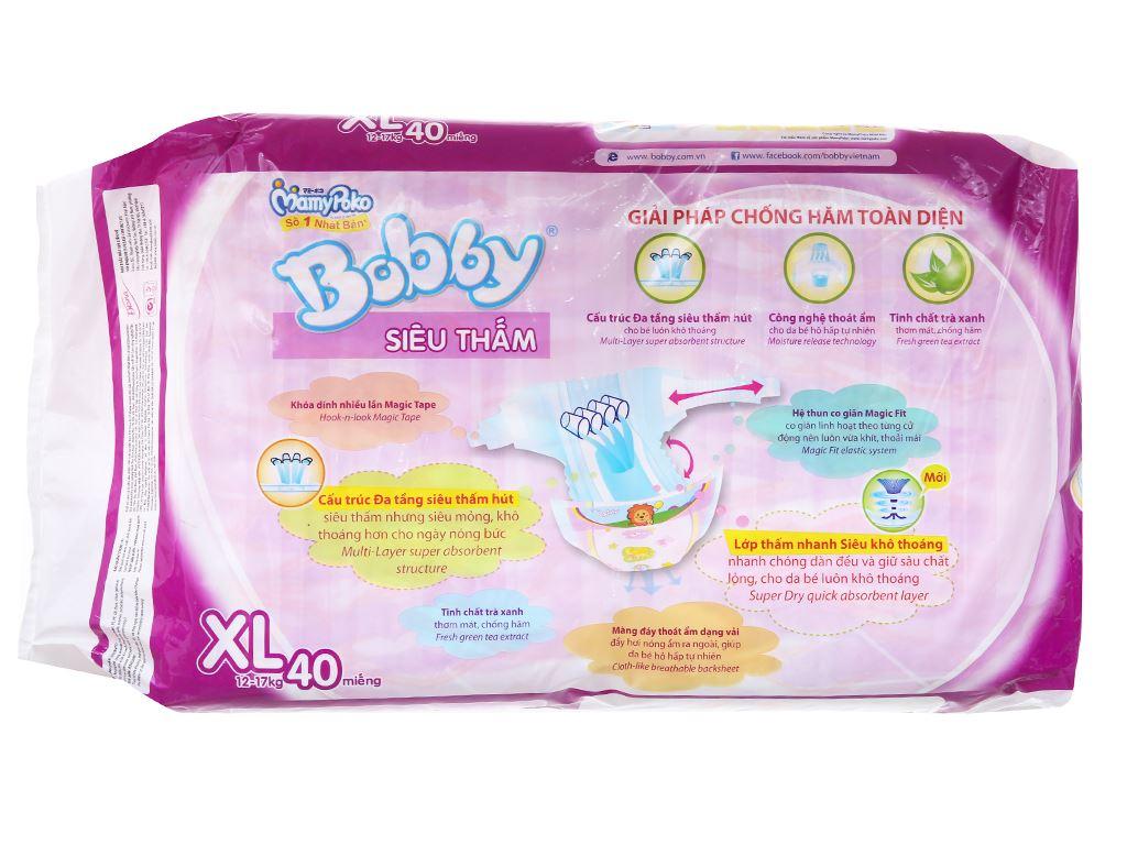 Tã dán Bobby size XL 40 miếng (cho bé 12 - 17kg) 2