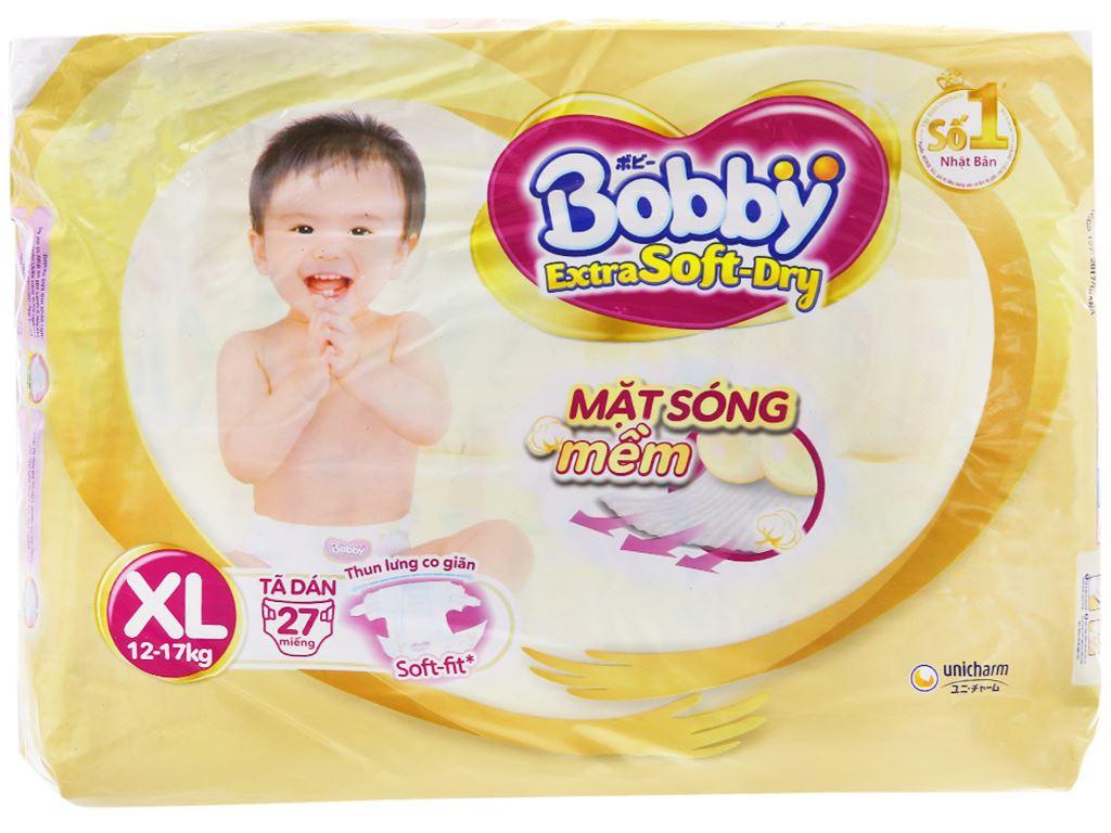 Tã dán Bobby Extra Soft Dry size XL 27 miếng (cho bé 12 - 17kg) 1