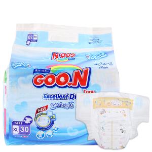 Tã dán Goon Excellent Soft Size XL 12 - 20kg (30 miếng)