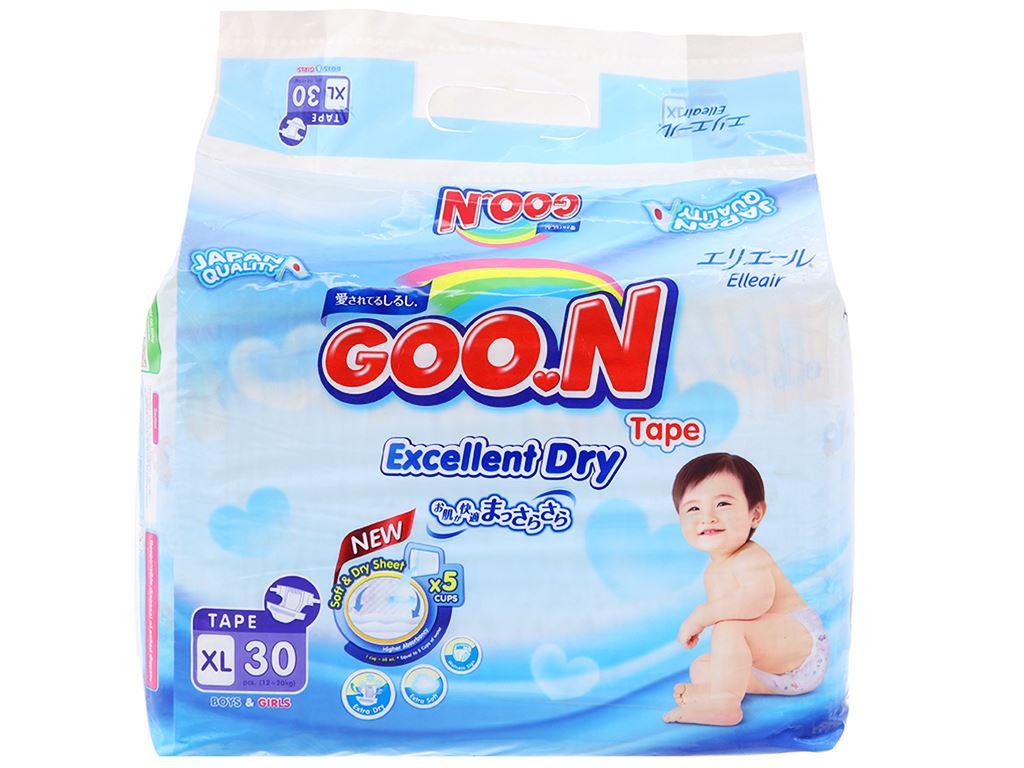 Tã dán Goo.n Excellent Soft size XL 30 miếng (cho bé 12 - 20kg) 1