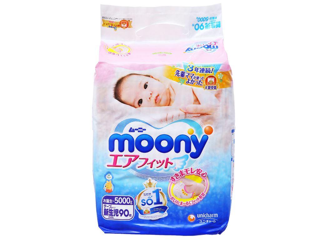 Tã dán Moony size NB 90 miếng (cho bé dưới 5kg) 1
