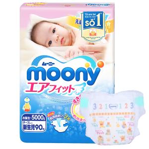 Tã dán Moony size NB 90 miếng (cho bé dưới 5kg)