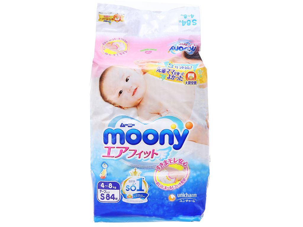 Tã dán Moony size S 84 miếng (cho bé 4 - 8kg) 1