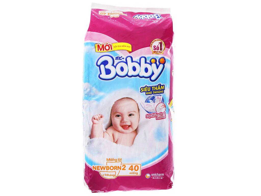 Miếng lót sơ sinh Bobby Size NB2 40 miếng (cho bé trên 1 tháng) 1