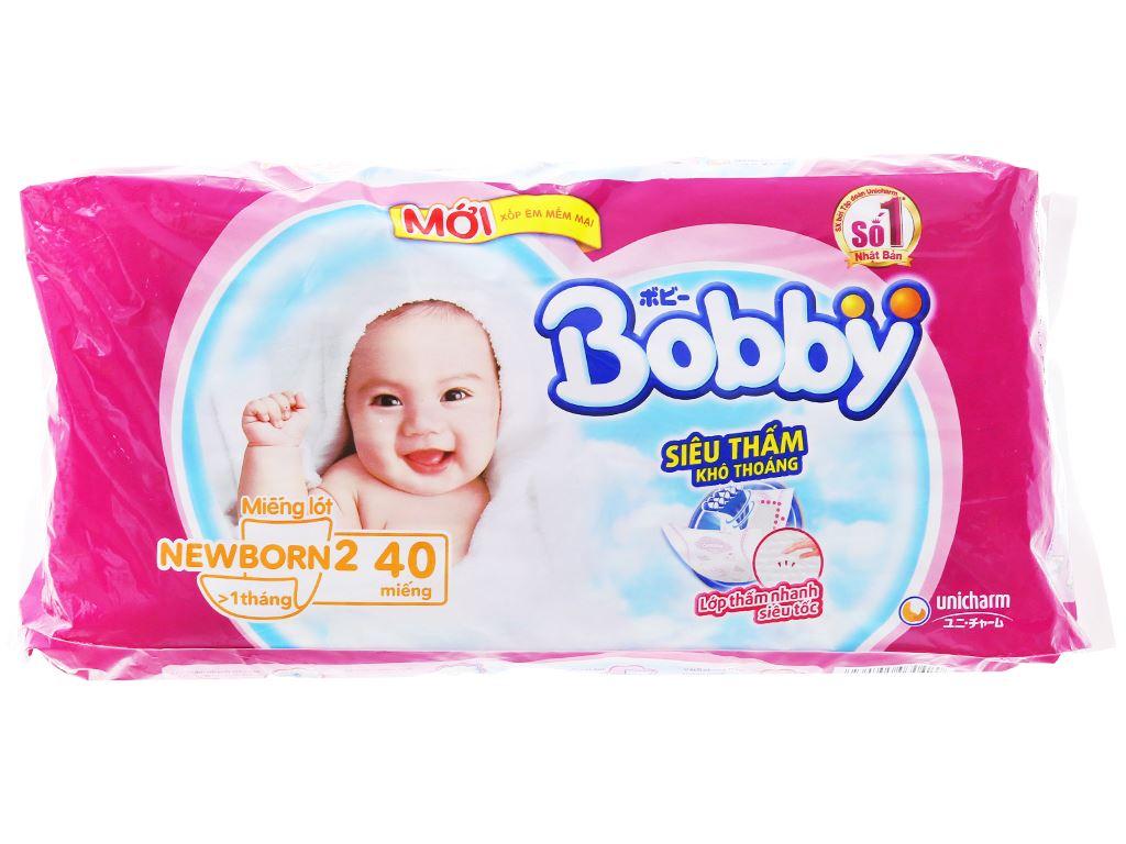 Miếng lót sơ sinh Bobby Size NB2 40 miếng (cho bé trên 1 tháng) 2