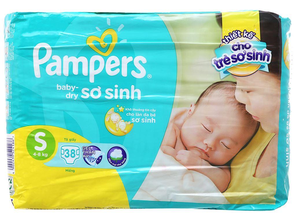 Tã dán Pampers Baby Dry Size S 38 miếng (cho bé 4 - 8kg) 1