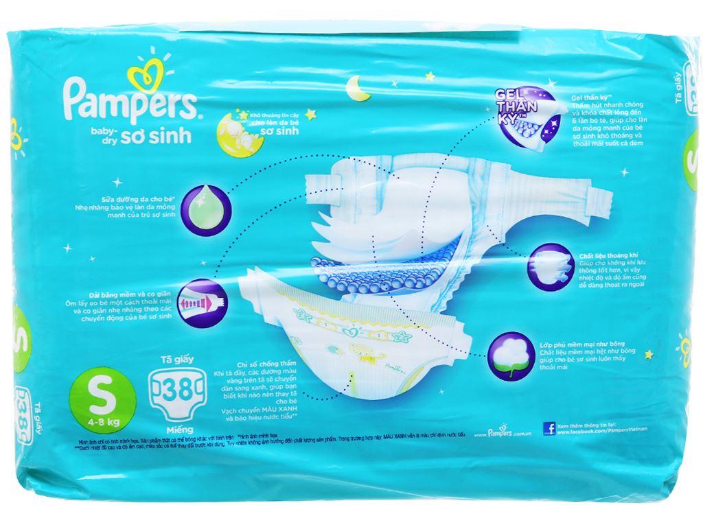 Tã dán Pampers Baby Dry Size S 38 miếng (cho bé 4 - 8kg) 2