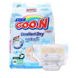 Tã dán Goo.n Excellent Dry size M 66 miếng (cho bé 7 - 12kg)